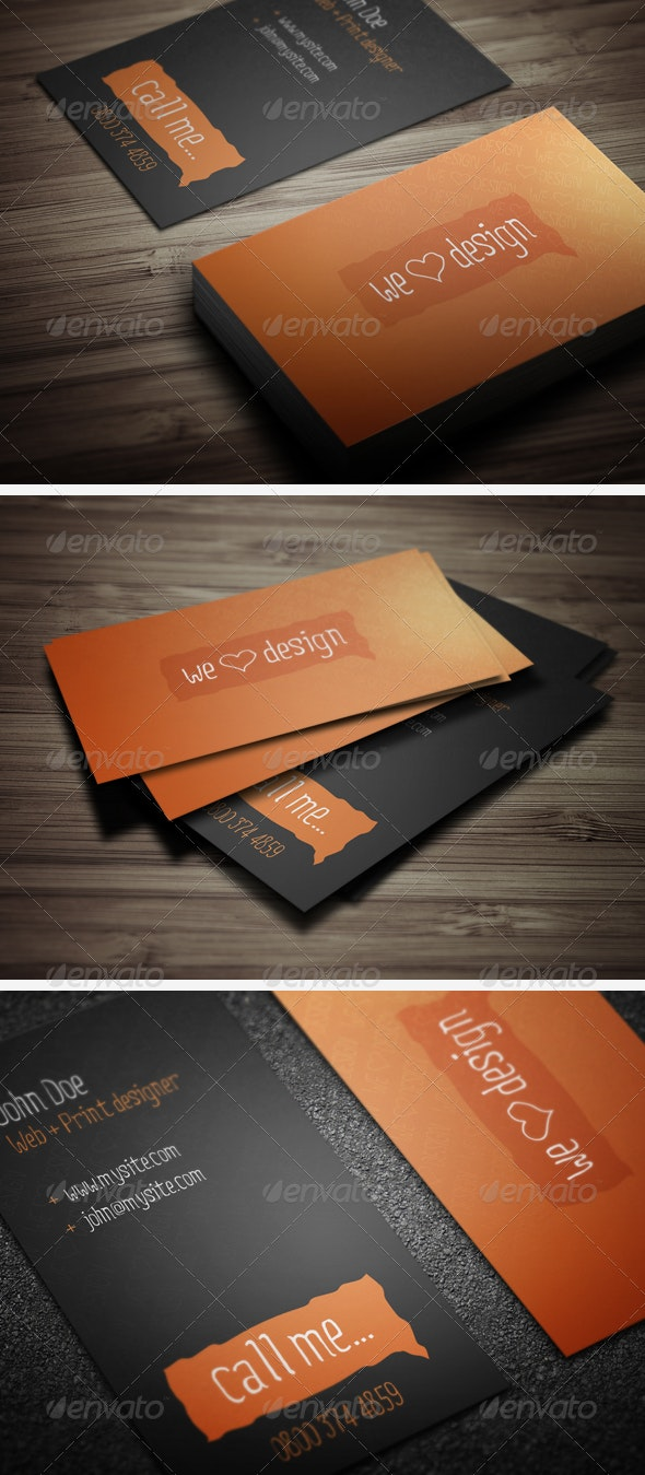 We Love Design Business Cards - Creative Business Cards