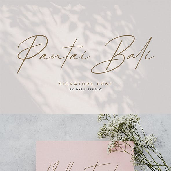 Pantai Bali - Signature Font