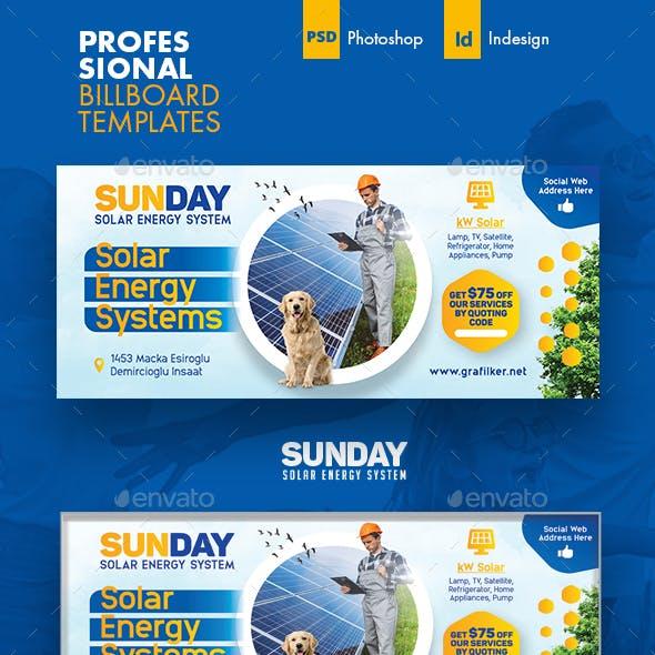 Solar Energy Billboard Templates
