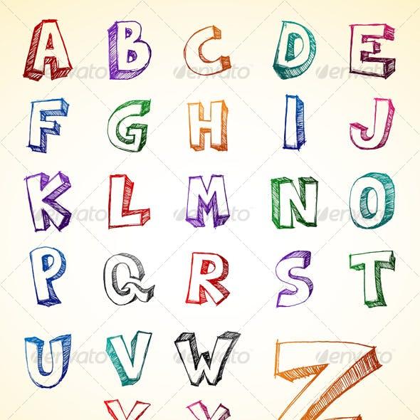 Alphabet Sketch