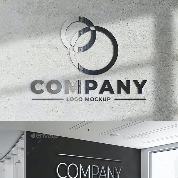 Metallic Logo Mockup Set