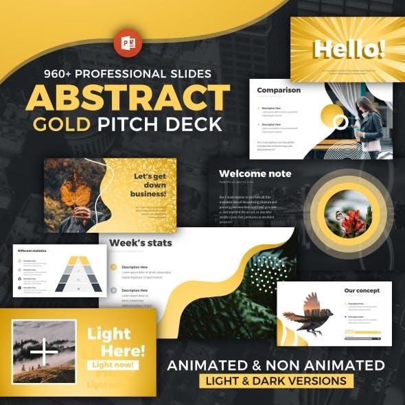 Pitch Deck Modern Infographics