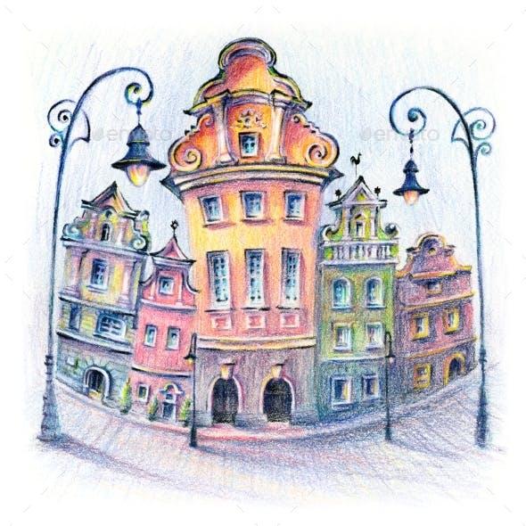 Old Market Square in Poznan Poland