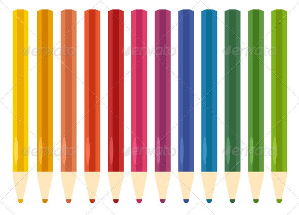 Colorful Pastel Crayons set isolated on white - Man-made Objects Objects