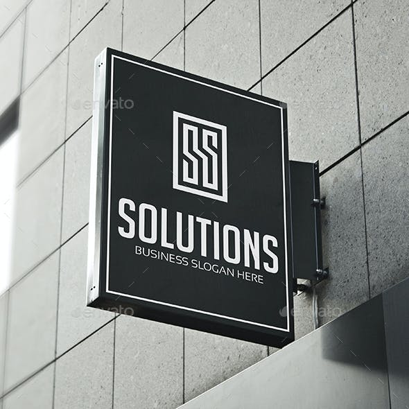 Solutions - S or SS Logo Letter Monogram