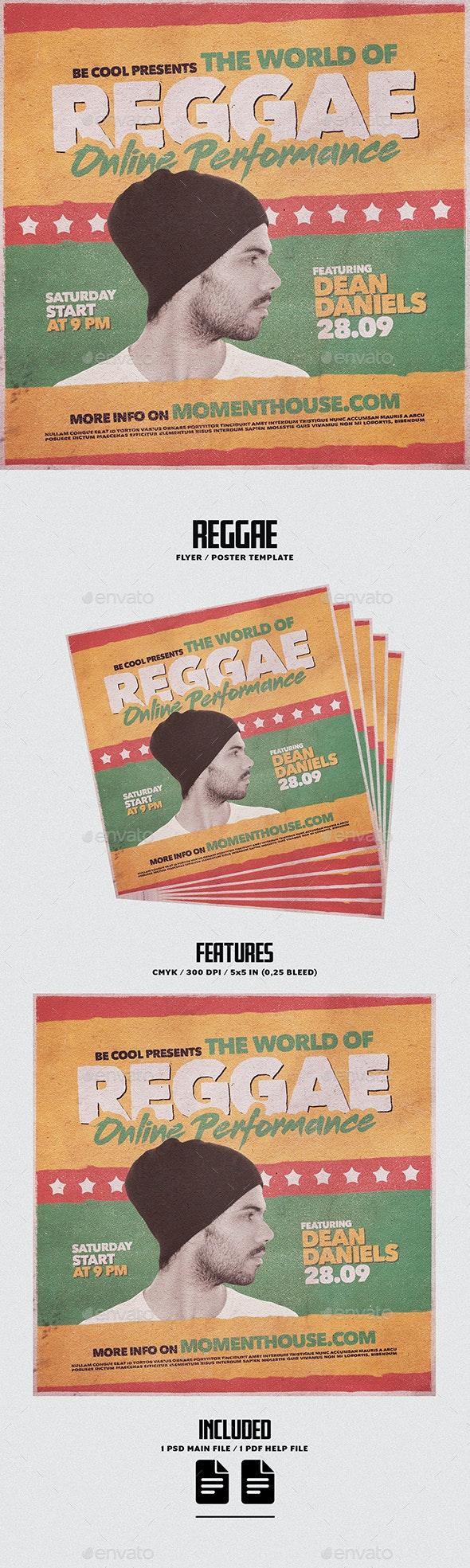 Reggae Flyer/Poster - Concerts Events