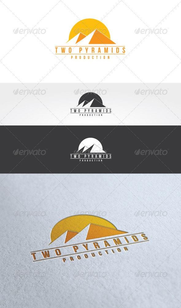 Two Pyramids Logo Template - Buildings Logo Templates