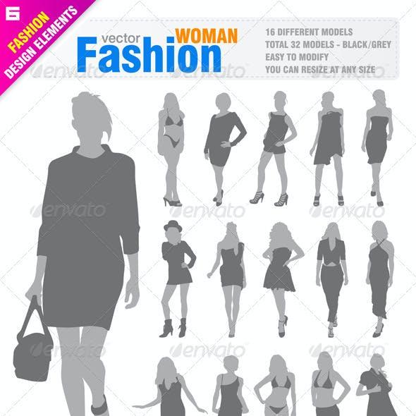 32 Fashion Woman's Silhouette