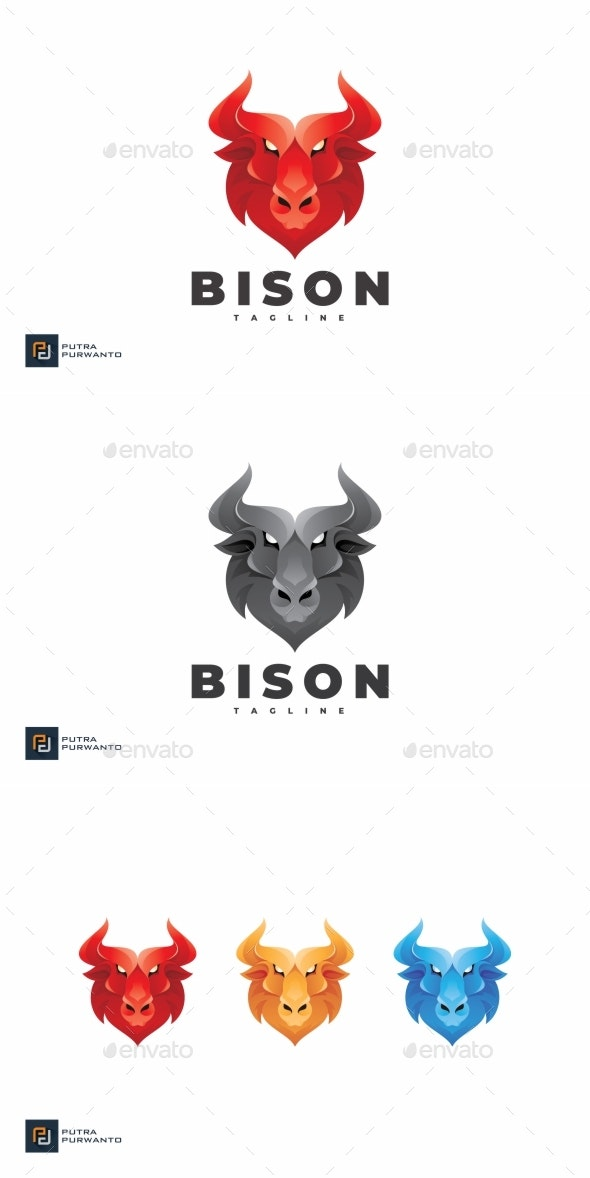 Bison - Logo Template - Animals Logo Templates