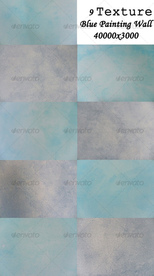 9 Blue Painted Wall - Industrial / Grunge Textures