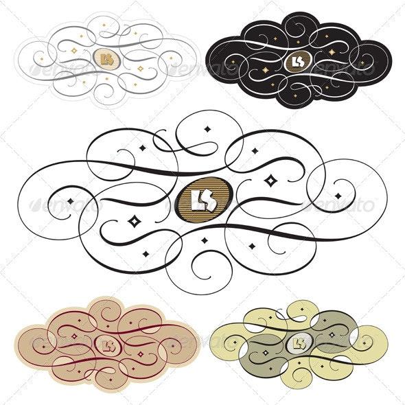 calligraphic swirls - Flourishes / Swirls Decorative