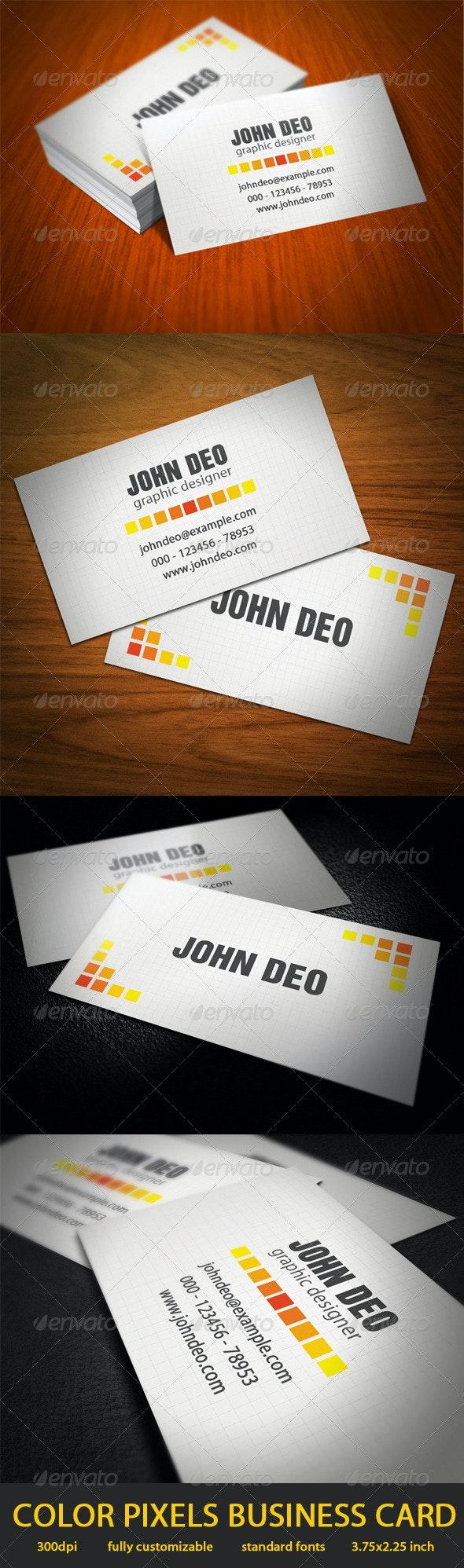 Color Pixels Business Cards - Corporate Business Cards