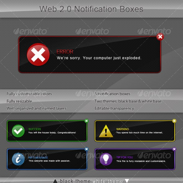 Web 2.0 Notification Boxes