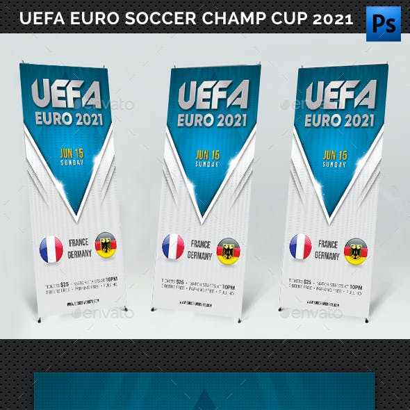 UEFA EURO Soccer Championship Cup 2021 Banner