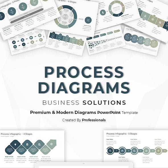 Process Diagrams Infographics PowerPoint Template