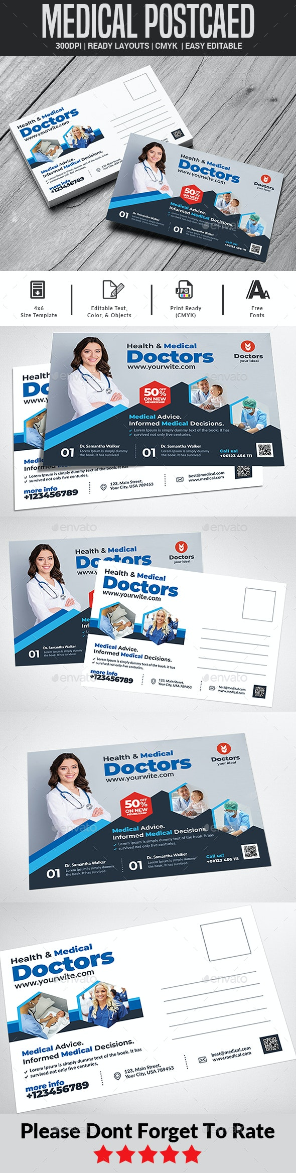 Health & Medical Doctors Post aed - Cards & Invites Print Templates