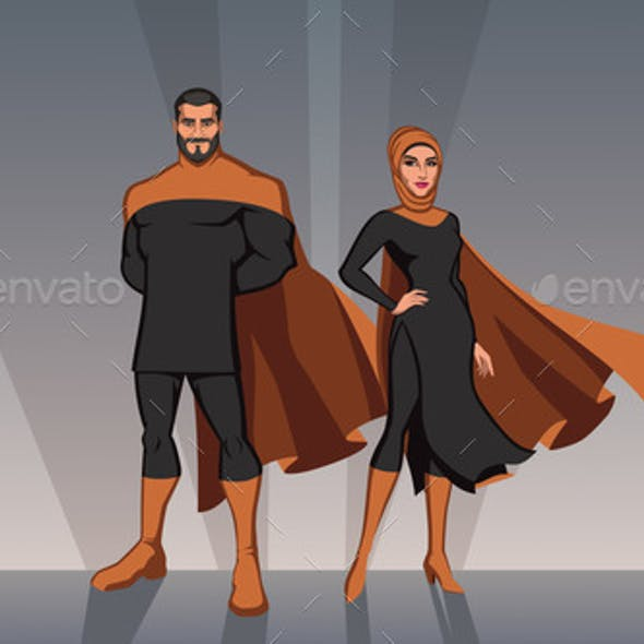 Middle Eastern Superhero Couple