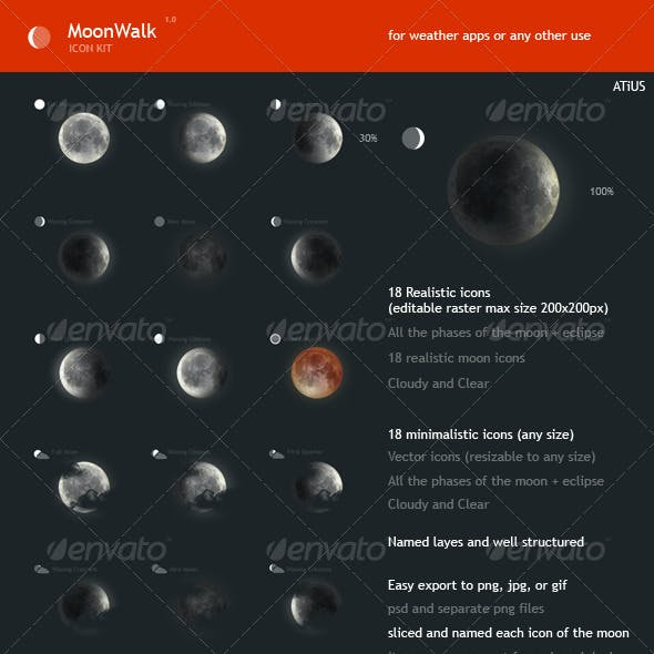 MoonWalk - Weather Icon Kit
