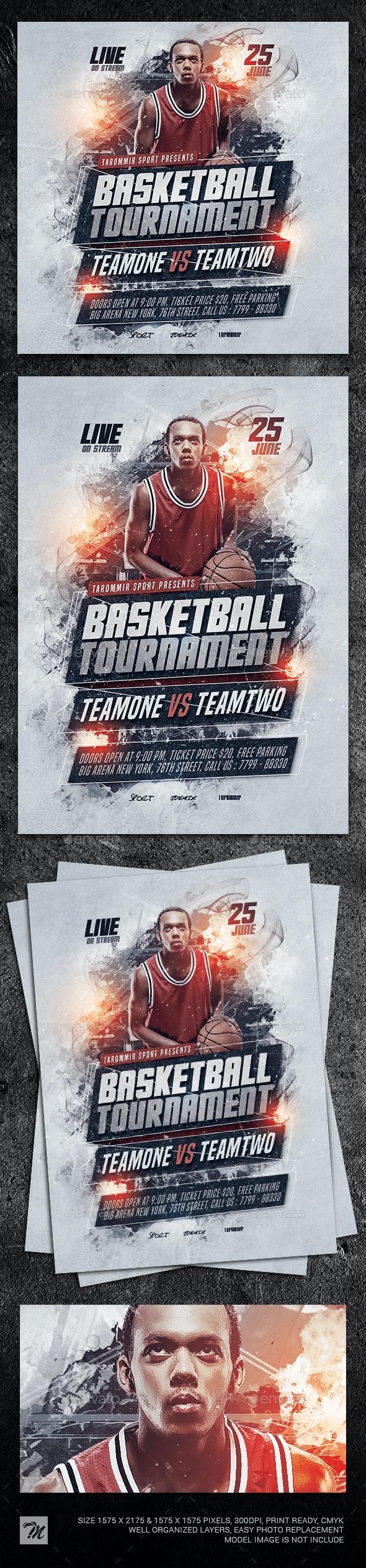 Basketball Tournament Flyer - Sports Events