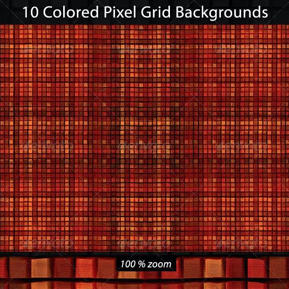 10 Pixel Grid Backgorunds