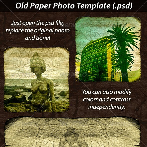 Old Paper Photo Template