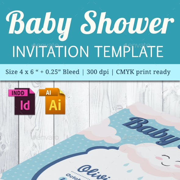 Baby Shower Template - Vol. 24