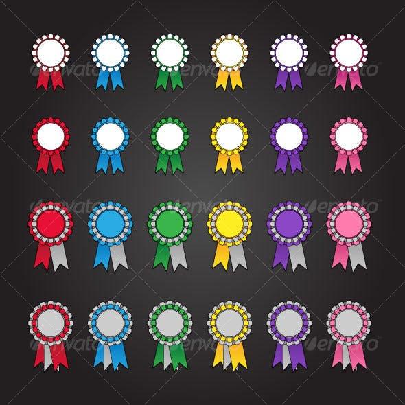 24 Rosette Icons