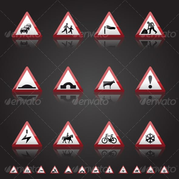 UK Road Signs: Warnings 3