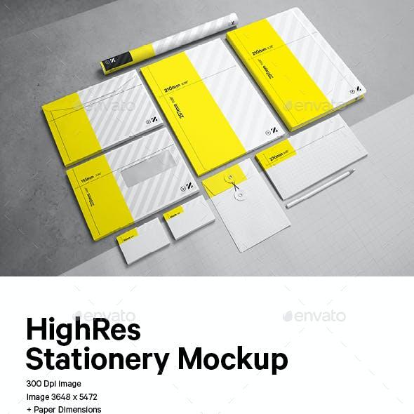 Easy Editable Stationery Mockup