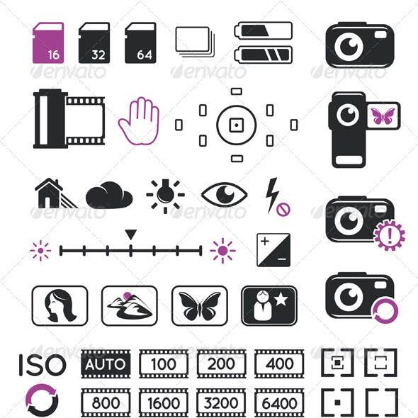 Camera Display Icons And Symbols