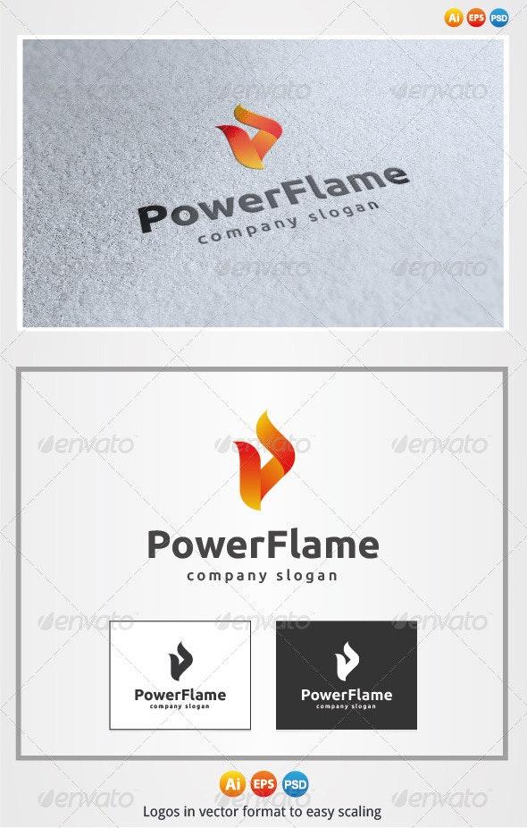 Power Flame Logo - Symbols Logo Templates