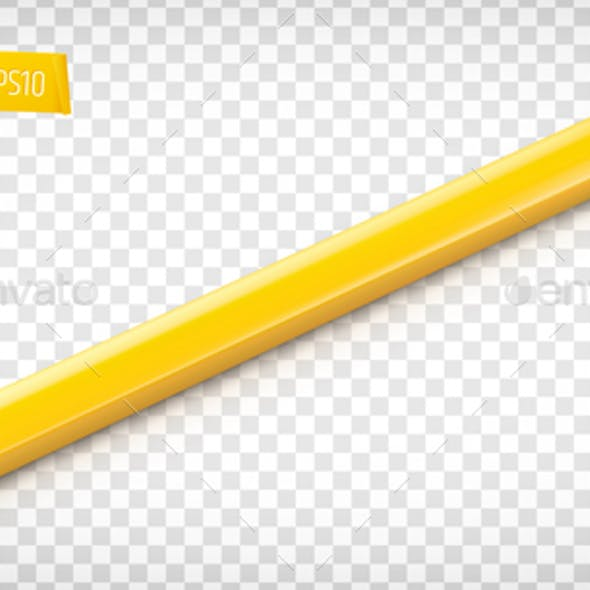 Vector Realistic Carpenter Pencil
