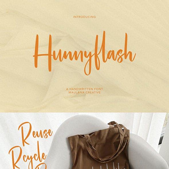 Hunnyflash Handwritten Font