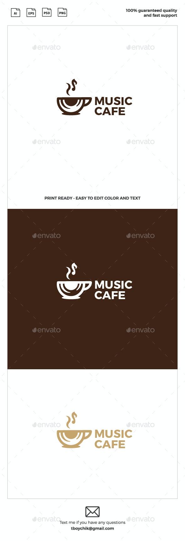Music Cafe Logo - Restaurant Logo Templates