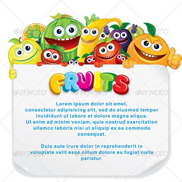 Fun Fruit Sign - Food Objects