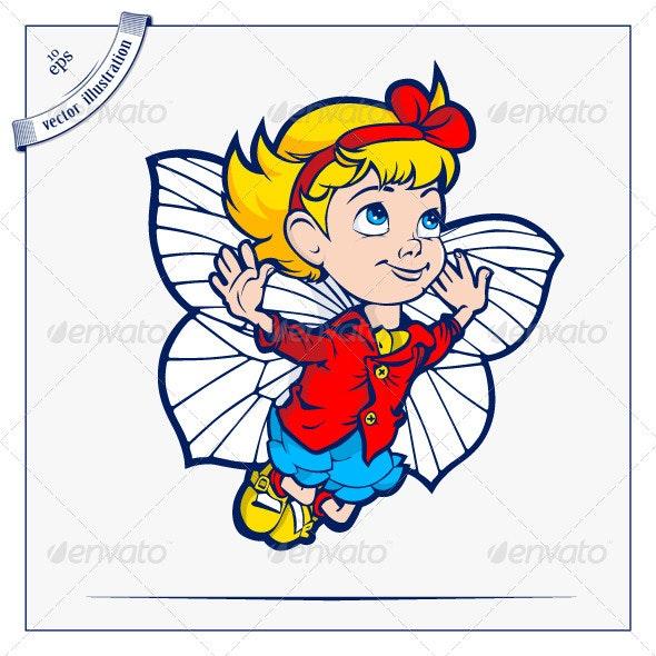 Flying Girl - People Characters