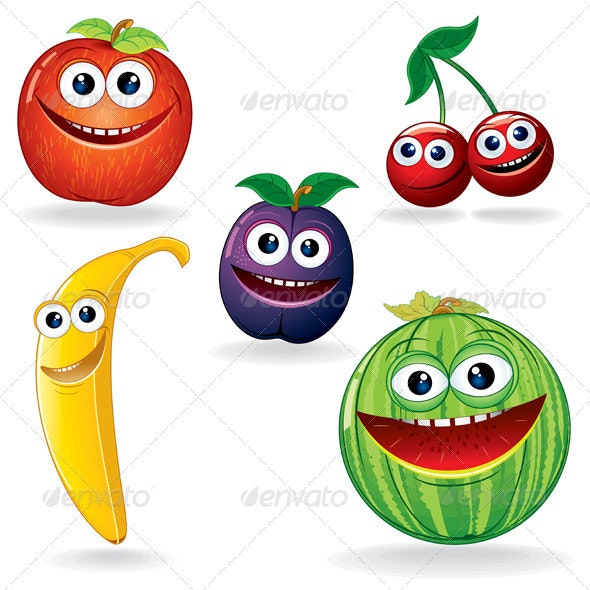 Funny Fruits B - Food Objects