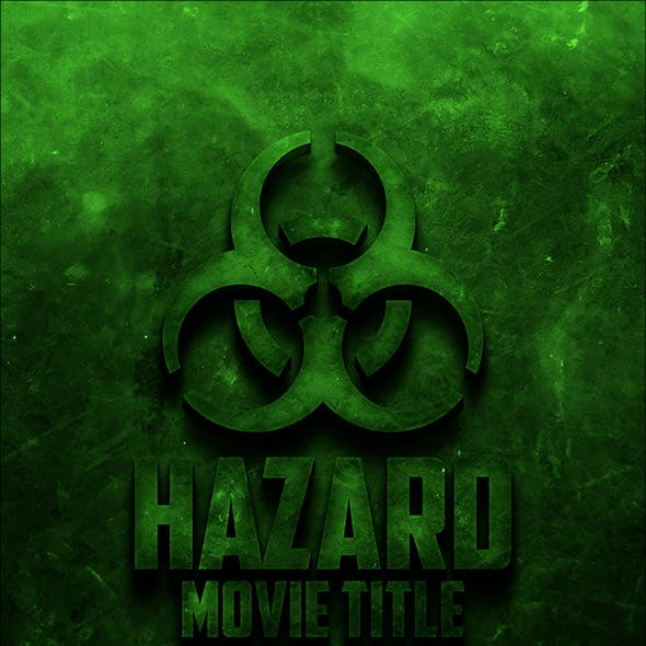 Toxic Movie Title Text Effect