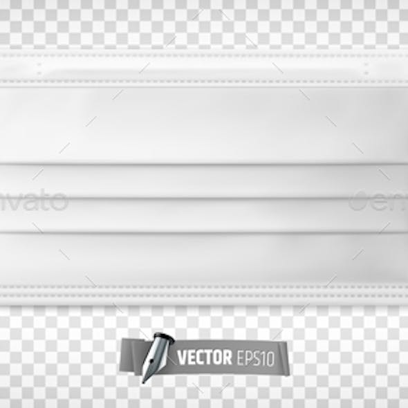Vector Realistic Medical Face Mask
