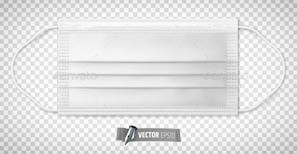 Vector Realistic Medical Face Mask - Health/Medicine Conceptual