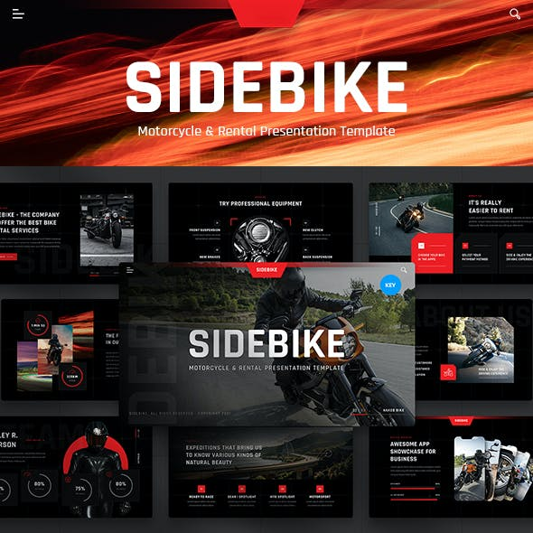 Sidebike - Motorcycle & Rental Keynote Presentation Template