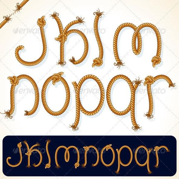 Rope Alphabet 2 - Decorative Symbols Decorative