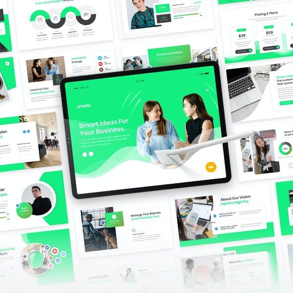 Upwise - Startup Business Google Slide Presentation Template