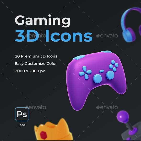 Gaming 3D Icons
