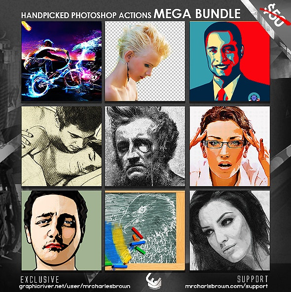 Handpicked Photoshop Actions Mega Bundle - Photo Effects Actions