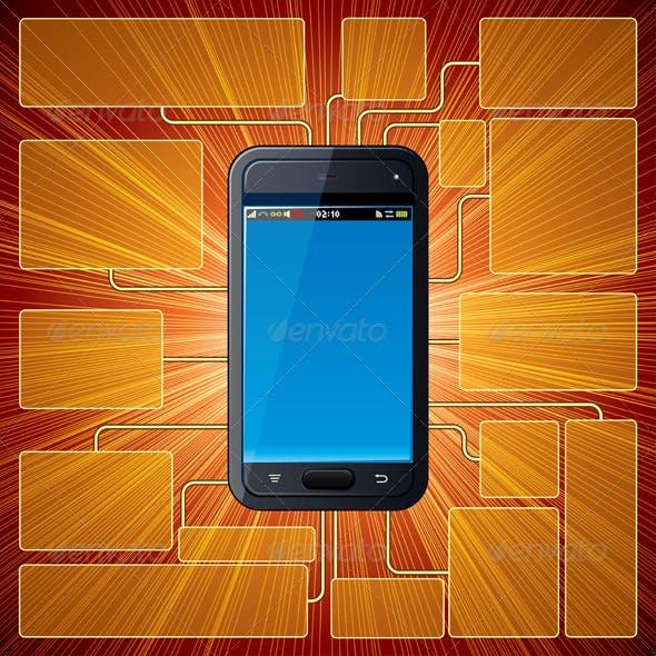 Smart Phone Guide Vector