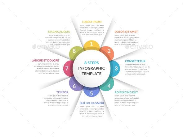 Circle Infographics - Eight Elements - Infographics