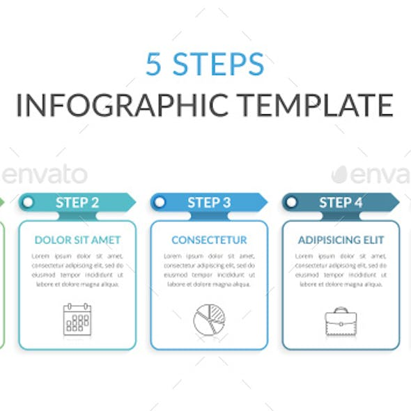 5 Steps - Infographic Template