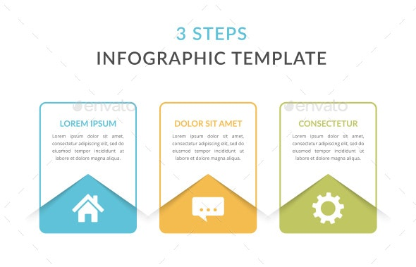 3 Steps - Infographic Template - Infographics