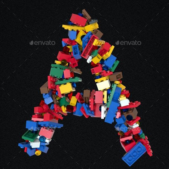 Colored Bricks Building Blocks Typeface